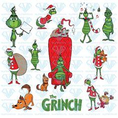 Christmas Fonts, Christmas Rock, Grinch Christmas, Disney Christmas, Christmas Is Coming, Kids Christmas, Christmas Crafts, Grinch Face Svg, Grinch Stuff