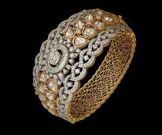 wow these indian diamond bracelets are gorgeous Pin# 3878434409 Diamond Bracelets, Gold Bangles, Diamond Jewelry, Bangle Bracelets, Gold Jewelry, Necklaces, Pakistani Jewelry, India Jewelry, Silver Diamonds