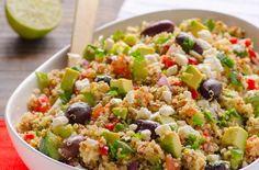 Mediterranean Quinoa Salad Recipe is simple and clean quinoa salad recipe with tomatoes, cucumbers, feta and olives. Best quinoa salad ever! Quinoa Salad Recipes, Vegetarian Recipes, Cooking Recipes, Healthy Recipes, Quinoa Recipe, Potluck Recipes, Sauce Recipes, Mediterranean Quinoa Salad, Mediterranean Diet Recipes