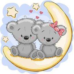 Obrázek z Roztomilí medvídci samolepka na zeď