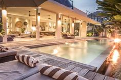 Rent this 5 Bedroom Villa in Seminyak for $450/night. Has Balcony and DVD…