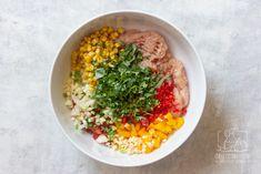 Kotleciki drobiowe z warzywami dla dzieci i dorosłych - przepis krok po kroku Chilli, Tzatziki, Hummus, Grains, Rice, Ethnic Recipes, Kitchen, Food, Cooking