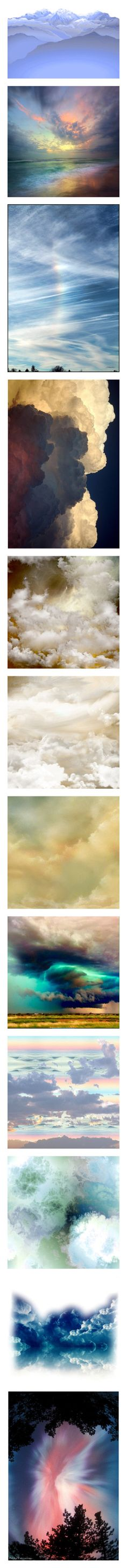 """Open HEAVEN - Anything Goes"" by for-the-art-of-fashion ❤ liked on Polyvore featuring backgrounds, fade, landscape, pictures, clouds, sky, art, fantasy backgrounds, angels and filler"