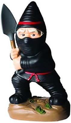 Big Mouth Toys Ninja Garden Gnome Statues - Ninja garden gnome will be sure to use it's sword to eliminate any pest which comes to close. This funny gnome is hand painted, made of resin and weatherproof. Stands approximately 9 Inch tall.  - http://ehowsuperstore.com/bestbrandsales/patio-lawn-garden/big-mouth-toys-ninja-garden-gnome-statues