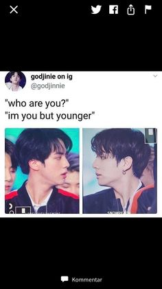Jungkook is 22 and he's the maknae in the famous k-pop group bts, his 6 hyungs and jk are always friendly.until one day a new member comes to bts and it's a. Bts Jin, Bts Bangtan Boy, Bts Boys, Bts Memes Hilarious, Bts Funny Videos, Namjin, Yoonmin, Taekook, Playboy