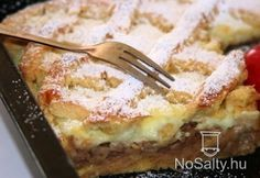 Rácsos-habos almás pite Apple Desserts, Fall Desserts, No Bake Desserts, Hungarian Desserts, Hungarian Recipes, Baking Recipes, Cake Recipes, Dessert Recipes, Eat Seasonal