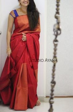 Soft silk sarees - buy the latest collection of soft silk sarees. Mysore soft silk sarees and Kanjivaram soft silk sarees. Half Saree Designs, Pattu Saree Blouse Designs, Silk Saree Blouse Designs, Blouse For Silk Saree, Indian Silk Sarees, Soft Silk Sarees, Indian Beauty Saree, Sari Silk, Saris