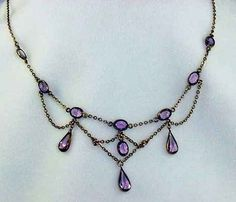 edwardian faux amethyst festoon necklace by Artgirl's Vintage, via Flickr