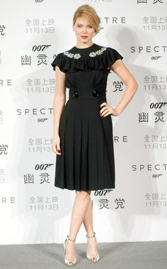 Lea Seydoux from The Best of the Red Carpet The Bond girl rocks a Miu Miu number.