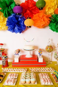 Hostess with the Mostess® - Rainbow Bright Birthday use fans instead 80s Birthday Parties, 80s Party, 80th Birthday, Party Time, Birthday Ideas, Candy Party, Rainbow Parties, Rainbow Theme, Rainbow Birthday