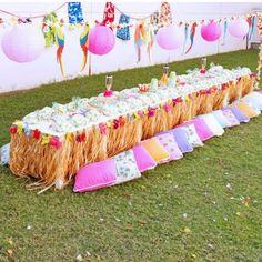 Hawaiian Luau Birthday Party Printables Collection - Pink Lime and Orange