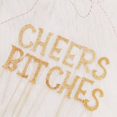 Cheers Bitches Cake Topper by thesweetpetiteshop on Etsy