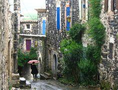 Alba La Romaine, Rhône-Alpes on a rainy day