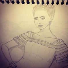 Skróciłam Natalie twarz :< #byłoćwiczyć #rysunek #ołówek