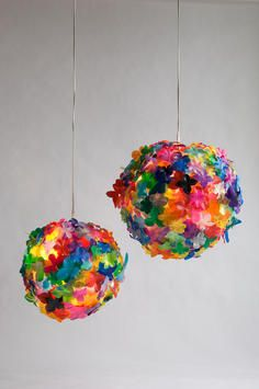"""Other People's Rubbish"""" by Heath Nash- plastic cut from bottles and linked to a wire armature Crafts To Make, Fun Crafts, Butterfly Lamp, South African Design, Friendly Plastic, Pet Bottle, Plastic Waste, Color Patterns, Repurposed"""