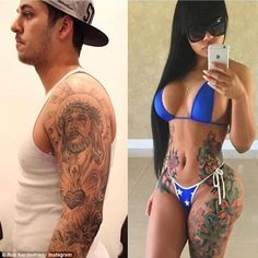 Goals: Rob Kardashian has vowed to finally shed the pounds for good, sharing a throwback shot of his and girlfriend Blac Chyna's slimmer frames on Instagram