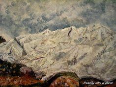 GALERIA PALOMO MARIA: TREKIKING SOBRE EL GLACIAR Patagonia, Painting, Art, Landscape Paintings, Argentina, Art Background, Painting Art, Kunst, Paintings