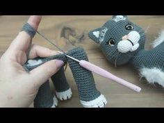 Crochet Animal Patterns, Stuffed Animal Patterns, Crochet Patterns Amigurumi, Crochet Animals, Crochet Toys, Gato Gif, Fingerless Gloves, Arm Warmers, Christian