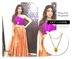 Get the Look: Shilpa Shetty - #Mangalsutra Necklace -  Celebrity - #IndianFashion - #Bollywood by rajjewels-content on Polyvore