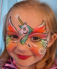 Unicorn Party Face Paint  @Heather Figueroa
