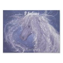 I Believe In Unicorns by MSHines v1 Print by MarySHinesFantasyArt