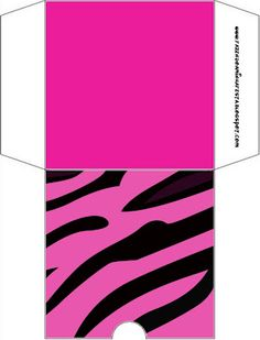 Imprimibles cebra en rosa 4.