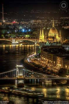 Budapest in Hungary by night - looks Just like this .... every night. Stunning!