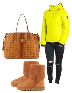 """Untitled #72"" by tay-liangg on Polyvore featuring Canada Goose, UGG Australia and MCM"