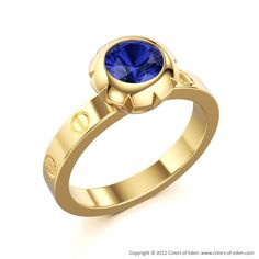 Sapphire Engagement Ring #Wedding