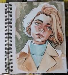 Trying out new pensss . sketch sketchbook drawing portrait… Trying out new pensss . sketch sketchbook drawing portrait watercolor See it Art Inspo, Inspiration Art, Art Du Croquis, L'art Du Portrait, Self Portrait Drawing, Drawing Portraits, Portrait Sketches, How To Draw Portraits, Arte Sketchbook