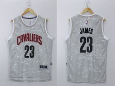1dca8308df0f Cavaliers LeBron James Grey City Light Stitched NBA Jersey jerseys for sale  cheap authentic