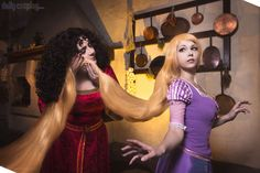 I finally cosplayed Rapunzel again! This time with her trademark long blonde hair and a very special someone. my actual mom cosplaying as Mother Gothe. Disney Tangled - Rapunzel and Mother Gothel Tangled Cosplay, Tangled Rapunzel, Princess Rapunzel, Disney Tangled, Walt Disney, Past Love, Disney Pictures, Cosplay Costumes, Blonde Hair