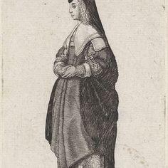 Mulier Generosa Coloniensis, Wenceslaus Hollar, 1643 - Rijksmuseum