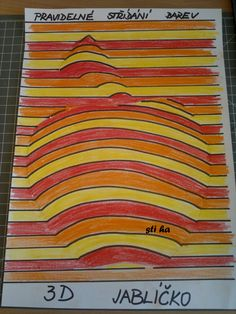 op art line apple jablko School Art Projects, Art School, Drawing For Kids, Art For Kids, Bedroom Crafts, 4th Grade Art, Graphic Design Pattern, Ecole Art, Art Curriculum