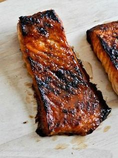 Crispy Bourbon Glazed Salmon How Sweet It Is made this and it was really tasty Will make again Salmon Dishes, Fish Dishes, Seafood Dishes, Salmon Food, Seafood Platter, I Love Food, Good Food, Yummy Food, Tasty