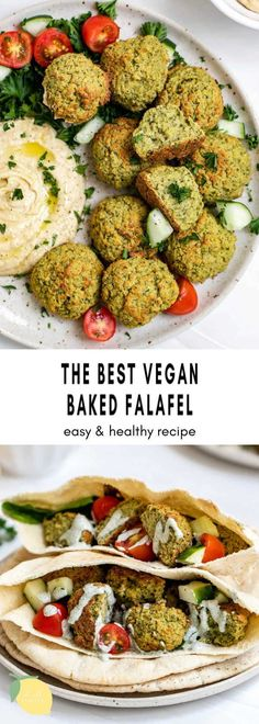 These baked vegan falafel are easy to make, bursting with flavor and perfect in a pita, salad or as a snack! This gluten free falafel recipe is made with dried chickpeas and an easy healthy recipe. They're baked, not fried and perfect for meal prep! #falafel #veganfalafel #bakedfalafel
