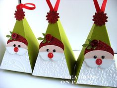 Creations on Paper: Petal Cone - Santa Elf Christmas Favors, Stampin Up Christmas, Noel Christmas, Christmas Paper, Winter Christmas, All Things Christmas, Christmas Decorations, Christmas Ornaments, Christmas Projects