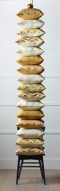 No such thing as too many glam pillows, especially when they're so crush-worthy. Get on our couches and chairs already.