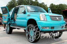 Cadillac Escalade on 32 inch Asanti wheels #fullycustomized #Cadillac #escalade…