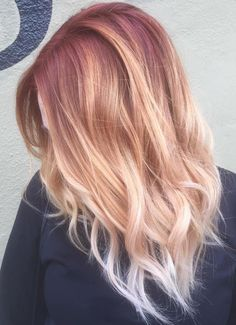 Blue Ombre Hair Color Light and Dark Shades Blonde Ombre Hair Colors You Should Try Hair World Magazine. Blonde Ombre Hair Colors You Should Try Hair World Magazine. Strawberry Blonde Ombre, Ombre Blond, Best Ombre Hair, Ombre Hair Color, Blonde Color, Blonde Balayage, Blonde Hair Red Roots, Hair Colors, Color Red
