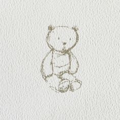 Peluche Wallpaper An endearing children's wallpaper with small pencil sketched cuddly toys on a cream background.