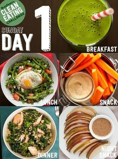 """Take BuzzFeed's Clean Eating Challenge"" But really all of these look like great healthy food! I want"