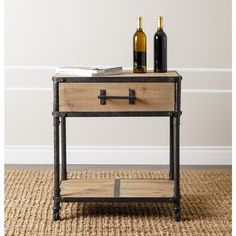 ABBYSON LIVING Northwood Industrial End Table | Overstock.com Shopping - The Best Deals on Coffee, Sofa & End Tables