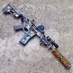 Loading that magazine is a pain 😐 Military Weapons, Weapons Guns, Guns And Ammo, Military Life, Rifles, Chasseur De Primes, Ar Rifle, Ar Pistol, Custom Guns