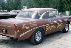 """I suppose it's possible for some readers to not know what a """"Gasser"""" is. Car Chevrolet, Chevy, Vintage Race Car, Drag Cars, Drag Racing, Cool Cars, Antique Cars, Classic Cars, Hot Rods"""