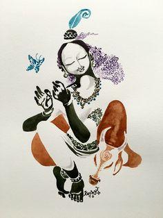 New forever. #watercolor #krishnafortoday