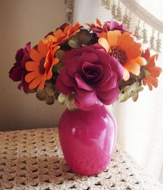 Paper Flower Arrangement Perfect for by SweetPeasPaperFlower, $23.00