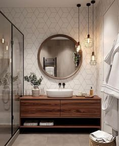 Industrial Bathroom Design, Bathroom Interior Design, Industrial Bedroom, Modern Industrial, Industrial Furniture, Small Bathroom Mirrors, Modern Bathroom, Modern Hallway, Wc Bathroom