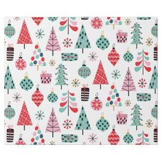 Modern blue, red and pink pattern Wrapping Paper , Xmas Wrapping Paper, Wrapping Paper Design, Custom Wrapping Paper, Christmas Wrapping, Christmas Tree Pattern, Blue Christmas, Gift Wrapping Supplies, Pink Patterns, White Elephant Gifts