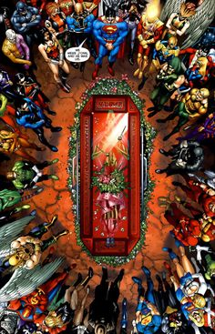 PUZZLE #2: CAN YOU FIND JASON TODD? ComicBookDB tipped us off to the presence of Jason Todd in this panel from FINAL CRISIS: REQUIEM. Can you find Jason Todd in the sea of mourners? Stuck? Here's the answer.